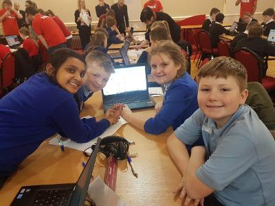 image of a team of students at the hack event