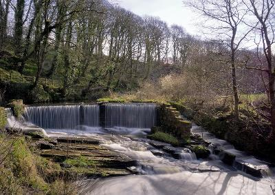 image of the waterfall at Yarrow Valley Park