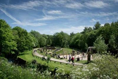 image of the playground at Yarrow Valley Park